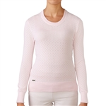 Adidas Golf Essentials Crew Sweater - Blushing Pink