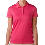 Adidas Tour Climachill Short Sleeve Golf Polo - Raspberry Rose