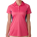Adidas Tour Climachill Peplum Golf Polo - Raspberry Rose