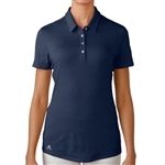 Adidas Essentials Heather Short Sleeve Polo - Navy