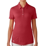 Adidas Essentials Heather Short Sleeve Polo - Power Red