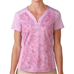 Adidas Golf Tour Bonded Mesh Polo - Wild Orchid