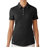Adidas Essentials Heather Short Sleeve Polo - Black