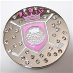 Abigale Lynn Ball Marker with Hat Clip Pink Shield