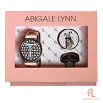 Abigale Lynn Blue Martini & Golf Bag Ballmarker Bracelet Gift Set