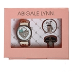 Abigale Lynn Heart Locket & Golf Bag Ballmarker Bracelet Gift Set