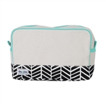 Ame & Lulu Natural Beauty Cosmetic Bag - Black Shutters