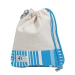 A&L Golf Ditty Bag - Ticking Stripe Natural