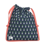 Ame & Lulu Drawstring Shoe Bags - Pineapple