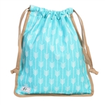 A&L Golf Drawstring Shoe Bag - Lagoon