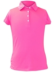 Garb Audra Bright Pink Short Sleeve Polo