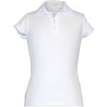 Garb Audra Short Sleeve Polo White