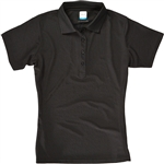 AUR DRI-MAX™ Solid Short Sleeve Pique Polo Black