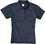 AUR DRI-MAX™ Solid Short Sleeve Pique Polo Navy