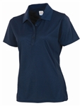 AUR DRI-MAX™ Solid Short Sleeve Pique Polo Nightfall