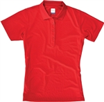 AUR DRI-MAX™ Solid Short Sleeve Pique Polo Red