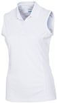 AUR DRI-MAX™ Sleeveless Pique Polo White