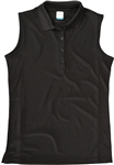 AUR DRI-MAX™ Sleeveless Pique Polo Black