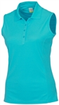 AUR Dri-Max™ Solid Sleeveless Pique Polo Scuba