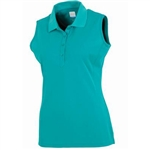 AUR DRI-MAX™ Solid Sleeveless Pique Polo