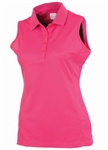 AUR DRI-MAX™ Sleeveless Pique Polo Kiss