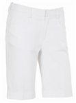 AUR Ladies Solid Stretch Golf Short White