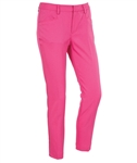 AUR Ladies Solid Stretch Cropped Golf Pant Kiss
