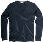 AUR Ladies Classic V-Neck Golf Sweater Black