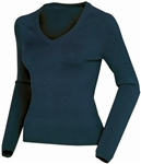 AUR Ladies Classic V-Neck Golf Sweater Nightfall