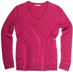 AUR Ladies Classic V-Neck Golf Sweater - Kiss