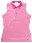 AUR Ladies Sleeveless Mason Micro Dot Golf Polo