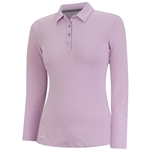 Adidas Climalite Essentials Long Sleeve Polo- Light Orchid