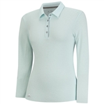 Adidas Climalite Essentials Long Sleeve Polo- Ice Blue