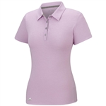 Adidas Essentials Heather Short Sleeve Polo - Light Orchid