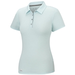 Adidas Essentials Heather Short Sleeve  Polo - Ice Blue