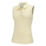 Adidas Essentials Heather Sleeveless Polo - Faded Sun Yellow