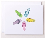 Bloom Design Note Cards - Flip Flops | Golf4Her