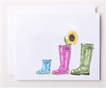 Bloom Design Note Cards - Wellies | Golf4Her