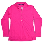Baker Golf Perfect Long Sleeve Polo (Bright Pink)
