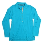 Baker Golf Perfect Long Sleeve Polo (Turquoise)