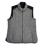 Baker Golf Quilted Highland Vest - Dark Grey Heather/ Black | Golf4Her