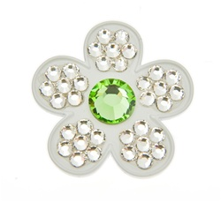 Bonjoc Flower Ball Marker and Hat Clip Ivory