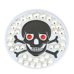 Bonjoc Ball Marker and Hat Clip (Skull & Bones)