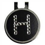 Blingo Ballmarks Crystal on Black Initial