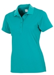 AUR Women's Short Sleeve Pique Polo Malibu Green