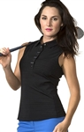 Chase54 Ladies Reynne Barcode Polo- Onyx