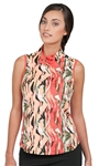 Chase54 Ladies Cecil Sleeveless Golf Top- Spiced Coral