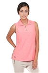 Chase54 Ladies Swela Sleeveless Golf Polo- Spiced Coral