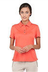 Chase54 Ladies Nonette Short Sleeve Polo Spiced Coral