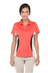 Chase54 Ladies Victoria Color Block Polo- Spiced Coral